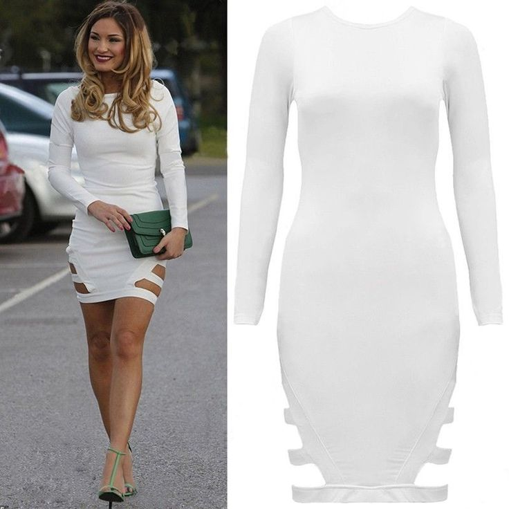 Sexy Women Slim Bodycon Cocktail Party Evening Clubwear Bandage Pencil Dress #Unbranded #StretchBodycon #Cocktail