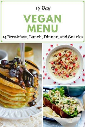 14 day vegan menu. Breakfast, lunch, dinner, and snack ideas for everyone! Includes vegan, vegetarian, gluten-free, raw, paleo, keto, and sugar-free recipes!