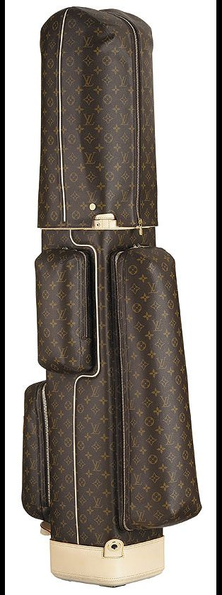 Louis Vuitton Golf Bag! Wow! I think my Taylormade pink shaft clubs would look great in this!!