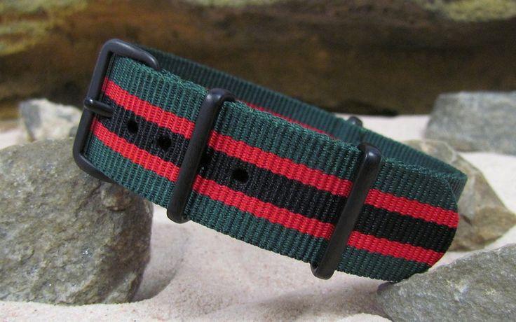 The Lumberjack NATO Strap w/ PVD Hardware (Stitched) 22mm