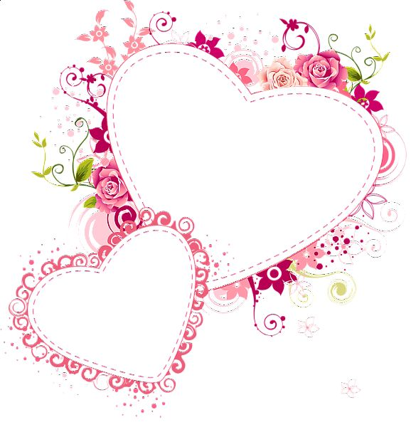 heart floral frame valentine - photo #49