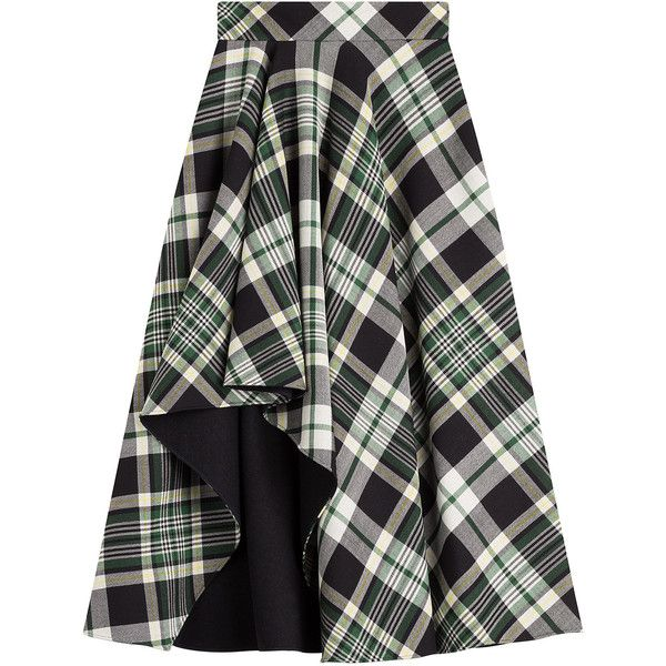 Alexander McQueen Tartan Midi Skirt ($2,025) ❤ liked on Polyvore featuring skirts, bottoms, multicolor, print skirt, calf length skirts, midi skirt, pleated midi skirt and tartan skirt