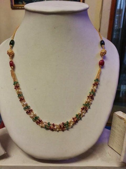 small beads necklace