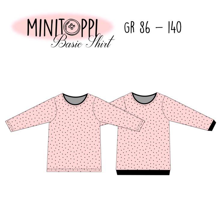 MINITOPPI Basic Shirt Gr. 86-140 *Freebook* – Schnittverhext