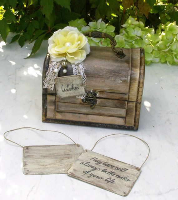 Shabby Chic Wedding Wishing Cards by ForMomentsinTime on Etsy
