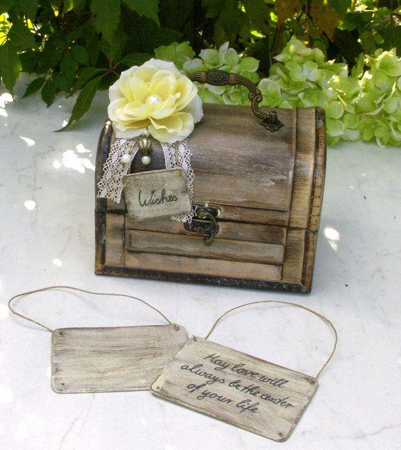 Shabby Chic Wedding Wishing Cards by ForMomentsinTime on Etsy