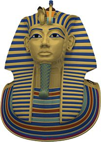 Crowns and headdresses were mostly made of organic materials and have not survived but we know what they looked like from many pictures and statues. The best known crown is from Tutankhamun's golden death mask - Ancient Egyptian Kings Queens