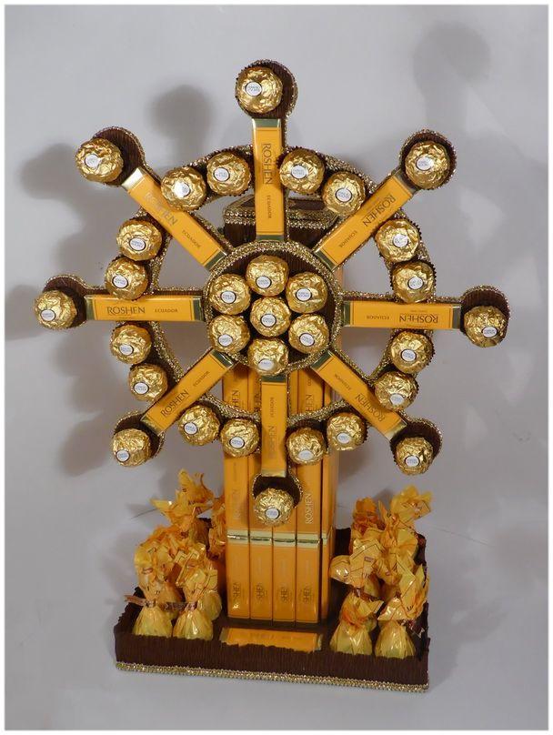 Букеты и композиции из конфет в Киеве » Blog Archive » Композиция из конфет «Штурвал»