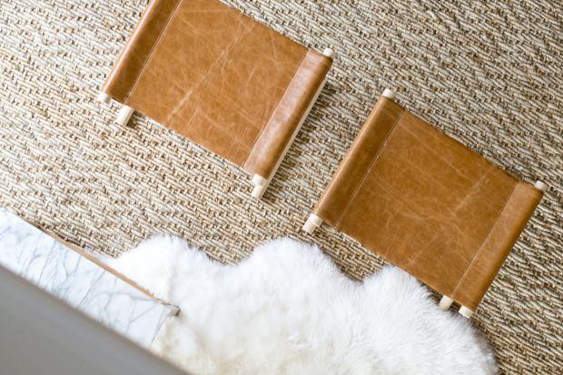 sarah m. dorsey designs: DIY Leather Stools