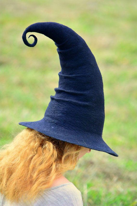 Witch Hat. Wizard Hat. Fantasy Hat. Cosplay Hat by HandiCraftKate