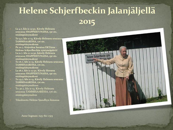 Jälleen tänä kesänä mahdollisuus kävellä Helenen seurassa #EKTAMuseumcenter #HeleneSchjerfbeck #Schjerfbeck #Museum #guidetours #Tammisaari #Snappertuna