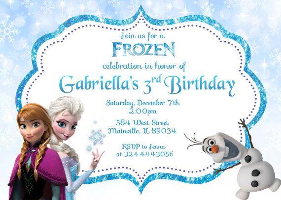 Disney Frozen Movie Birthday Party Invitation Digital File on Etsy, $8.99