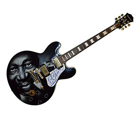 B.B. King Autograph Signed Gibson Epiphone Lucille Guitar Psa