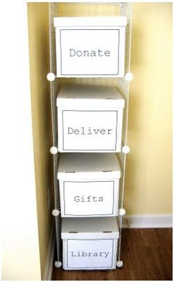 Must organise house - box for repairs, box of things that need a home