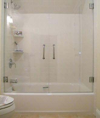 swinging  frameless glass shower doors for tubs | frameless-shower-door-for-tubs.jpg