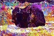 "New artwork for sale! - "" Bison Zoo Wild Cattle Endangered  by PixBreak Art "" - http://ift.tt/2uyOQca"