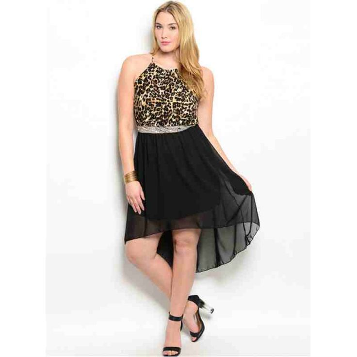 BLACK LEOPARD PLUS SIZE DRESS SALE: $36.00 http://www.curvyclothing.com.au/index.php?route=product/product&path=59_61&product_id=8649