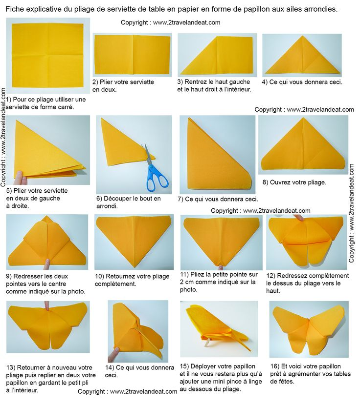 25 best ideas about pliage serviette papillon on pinterest pliage de servi - Origami serviette de table ...