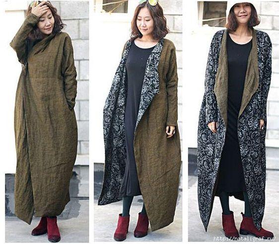 Двухсторонние японские бохо-пальто: и шьётся просто и носится с удовольствием