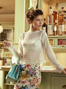 burda style: Damen - Shirts - Langarm-Shirts - Spitzenshirt - langarm