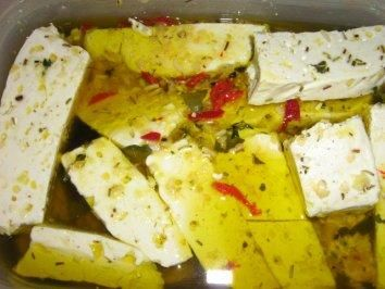 Eingelegter Käse - Rezept