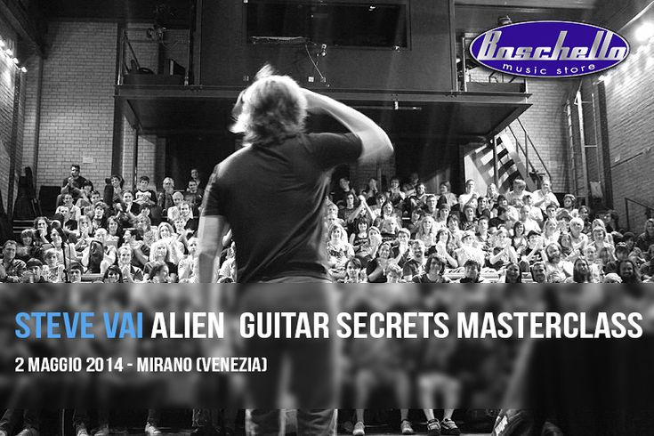 Steve Vai Alien Guitar Secrets Masterclass a Venezia   MusicOff