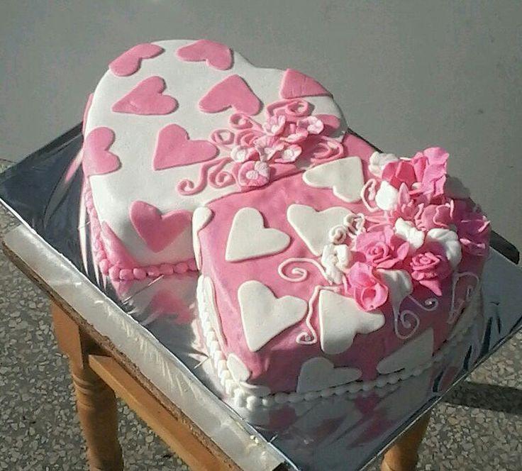 сердца #торт_на_заказ_черновцы #день_рождения #комбинированный_торт