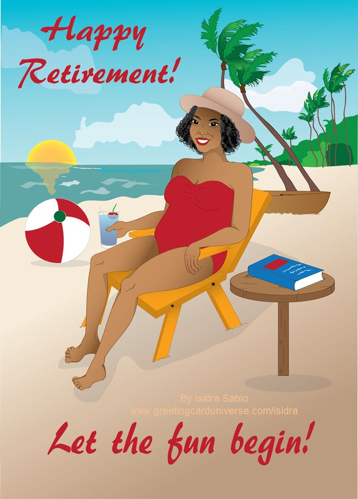 Happy retirement beach clipart retirement beautiful older woman by