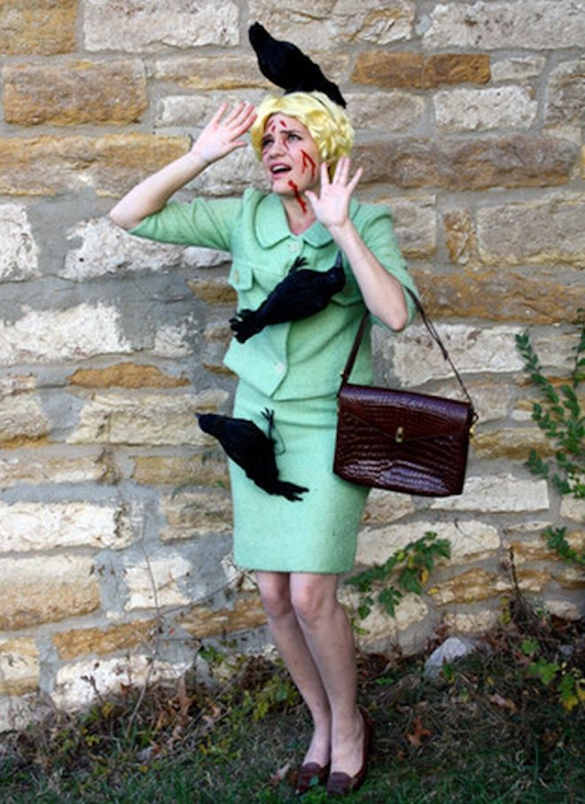 """Pulling out a vintage oldie but goodie!! Hitchcock """"BIrds"""" Halloween costume - Halloween Costume Ideas - Vintage Halloween"""