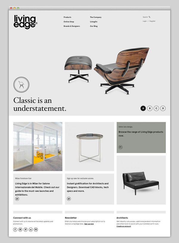 living edge website digital design gui layout interface pinterest beautiful furniture. Black Bedroom Furniture Sets. Home Design Ideas