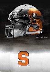 Syracuse football helmets