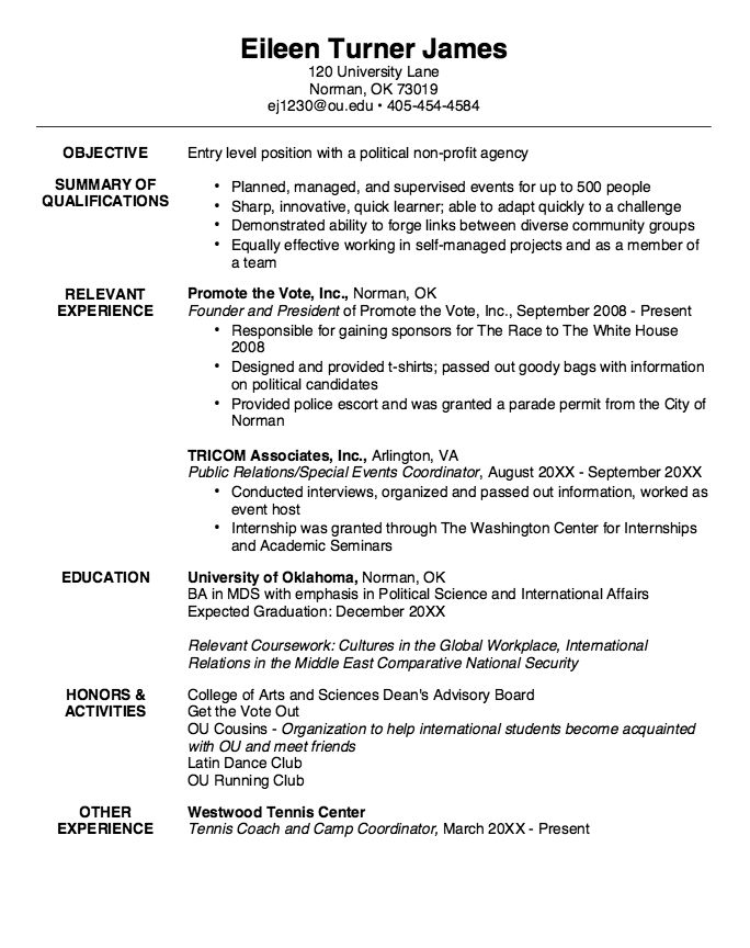 Example Of Multidisclipinary Studies Resume - http - quick learner resume