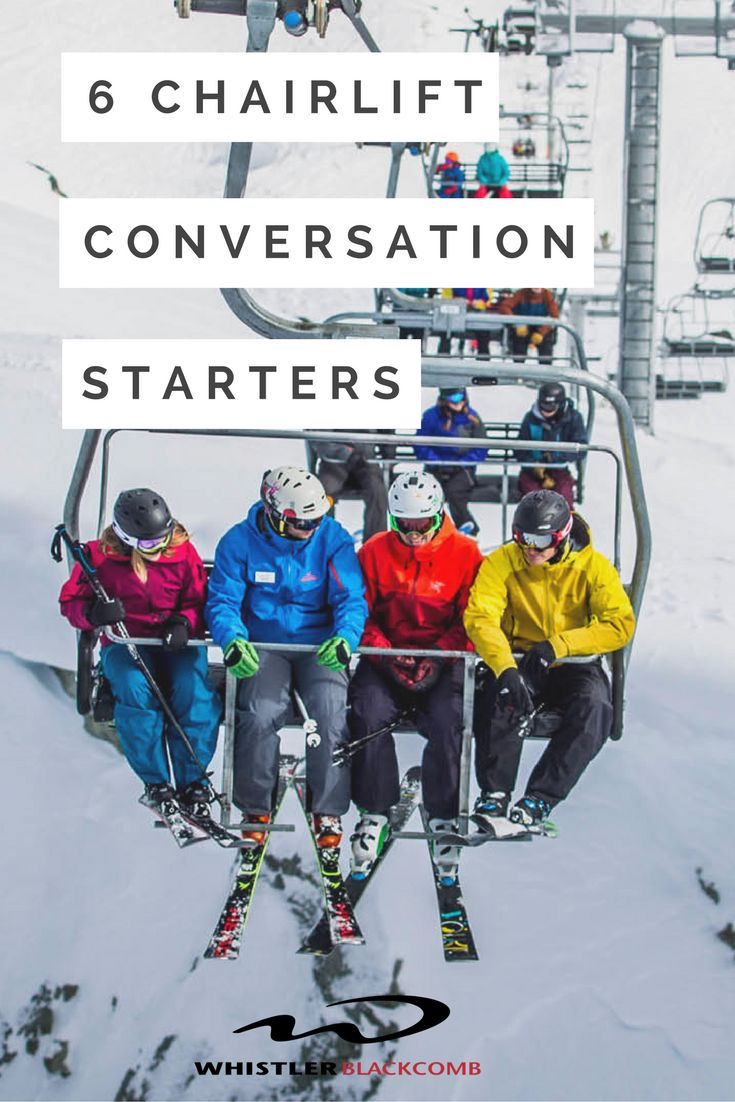 How much does a chairlift weigh? Enough to break the ice. Click on the image for some smooth talking tips between runs!