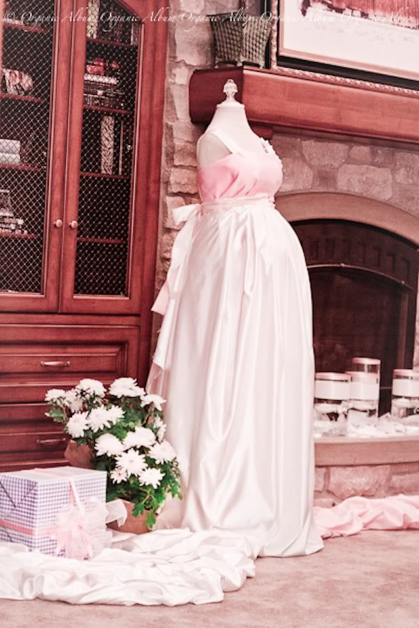 I think i would make this with a shower curtain or a curtain and let guests sign the dress rather than a guestbook.