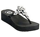 Yellow Box® Harley Ladies Black Cow Suede w/ Butterfly Bling Flip Flops $49.99