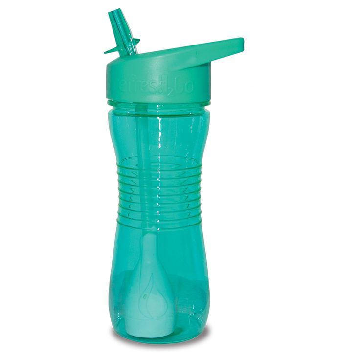 RefresH2Go Filtered Water Bottle 12oz Teal, Turquoise
