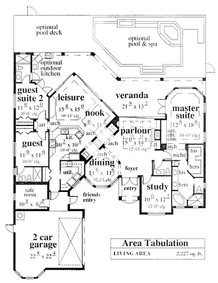 Coastal Home Plans Ellison Bay Safe Room Houseplans