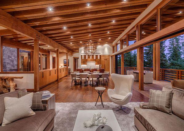 Rustic-Modern Bridge House in Martis Camp Tahoe