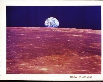 Terra vista da Lua (foto da Revista Life)