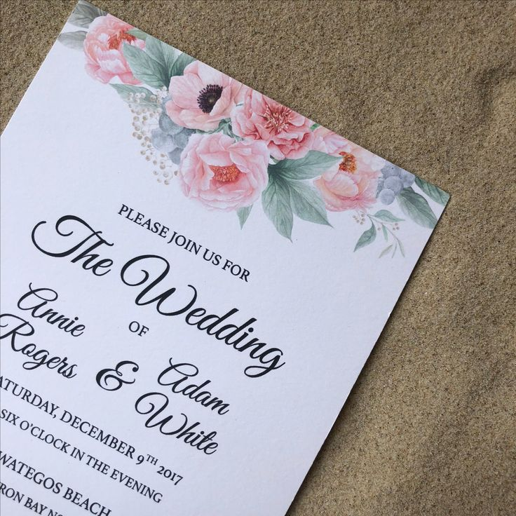 Our Pink Peonies Wedding Invitation is the