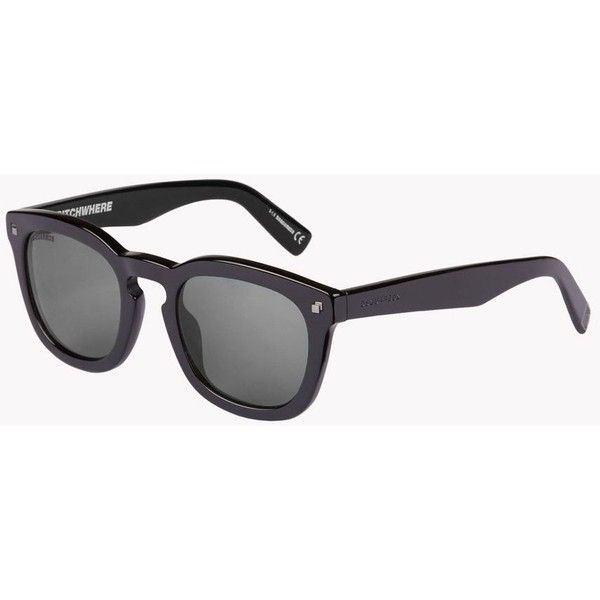 Dsquared2 Sunglasses (235 CAD) ❤ liked on Polyvore featuring men's fashion, men's accessories, men's eyewear, men's sunglasses, black and dsquared2