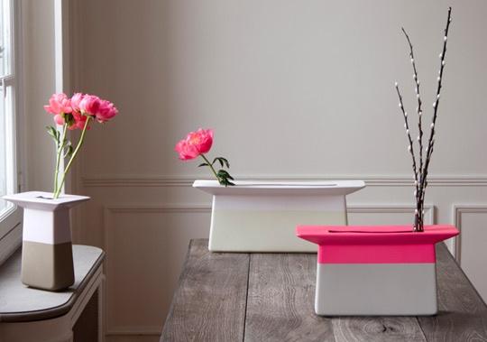 neon pink vases