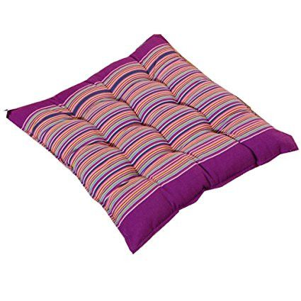 PatioA Chair Pads,Elevin(TM)Home Indoor Outdoor Comfort Coarse Cloth Cotton Stripe Chic Cushion Removable Tatami Mat Office Dining Room Chair Seat Pads (Purple) [Istilo286973]