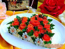 Рецепты салатов на день рождения - Розы