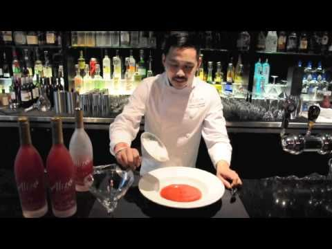 Chef Alfred Contiga creates a showstopping Tableside Dry Ice Sorbet!