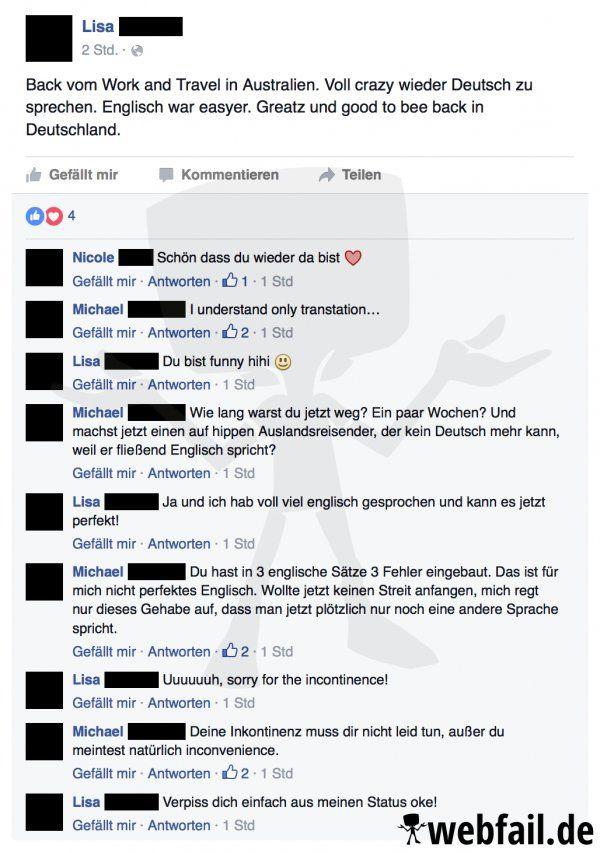 Wer kennt es nicht? Da ist man mal in einem fremden Land und kurze Zeit später spricht man kein Deutsch mehr.