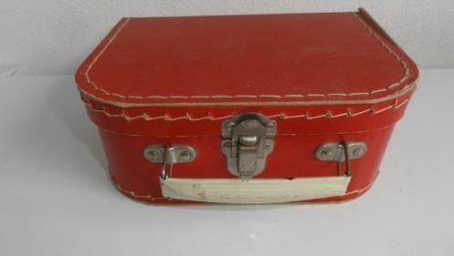 ≥ Koffertje, antiek speelgoed koffertje, rood - Antiek | Speelgoed - Marktplaats.nl