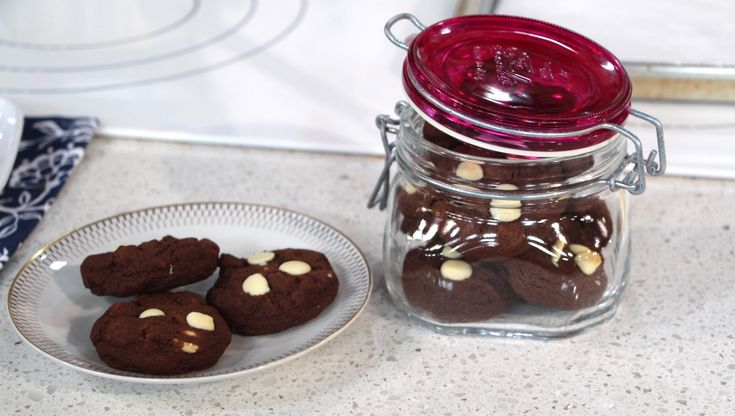 Delicious and easy to make triple chocolate brownie cookies that anyone can whip up for a last minute bake sale.