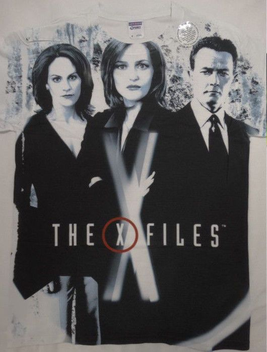 The X-Files Tv Show Dana Scully John Doggett Monica Reyes Sublimation T-Shirt #TheXFiles #GraphicTee