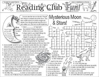 MYSTERIOUS MOON & STARS - Enjoy a Moon and Stars-themed Two-Page Activity Set and an Outer Space puzzle with this discounted bundle! Includes the following products:   • Mysterious Moon and Stars Two-Page Activity Set  • Outer Space Word Search Puzzle